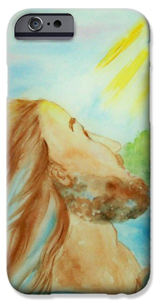 River Jordan Paintings iPhone Cases - Baptism of Christ iPhone Case by Melanie Palmer