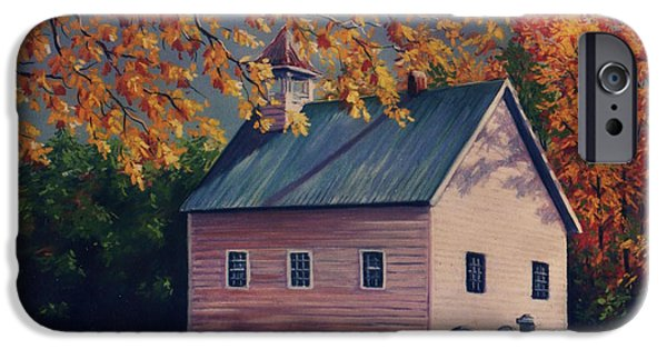 House Art Pastels iPhone Cases - Baptist Church  Cades Cove iPhone Case by John Clark
