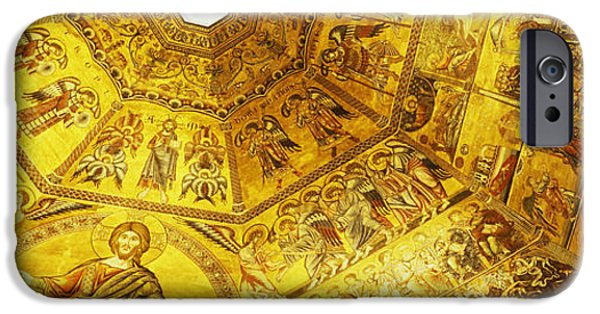 Mosaic iPhone Cases - Baptistery Mosaic Ceiling, Battistero iPhone Case by Panoramic Images