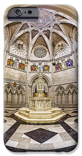 The Baptistry iPhone Cases - Baptistry At Saint John The Divine Cathedral iPhone Case by Susan Candelario