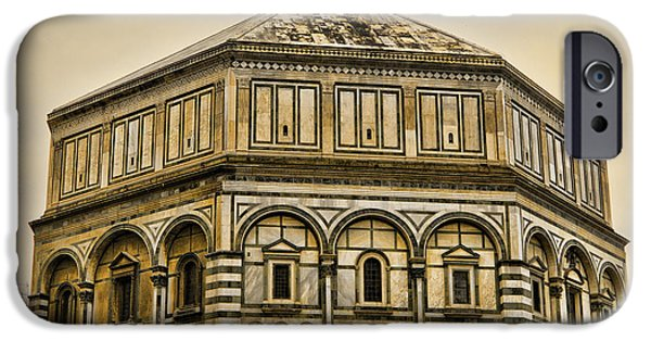 Florence Cathedral iPhone Cases - Baptistry - Florence Italy iPhone Case by Jon Berghoff