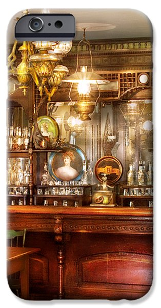 Bar - Bar and Tavern iPhone Case by Mike Savad