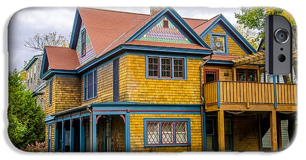 Old Maine Houses iPhone Cases - Bar Harbor Colors and Comfort iPhone Case by Julie Palencia