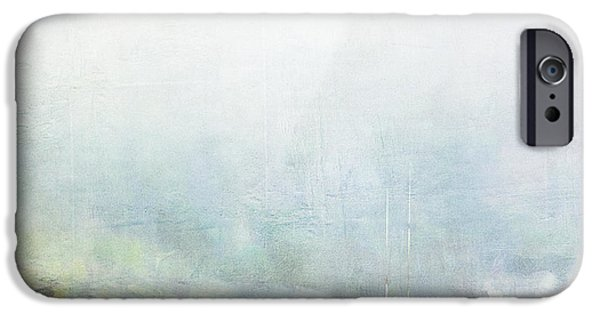 Down East iPhone Cases - Bar Harbor Maine Foggy Morning iPhone Case by Carol Leigh