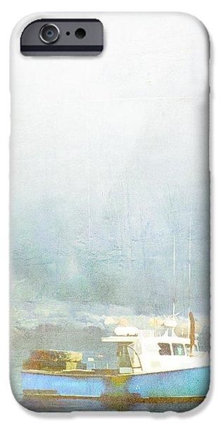Bar Harbor Maine Foggy Morning iPhone Case by Carol Leigh