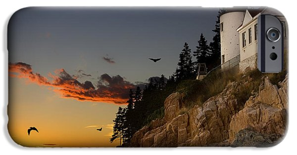 Birds iPhone Cases - Bar Harbor Maine Sunset iPhone Case by Mountain Dreams