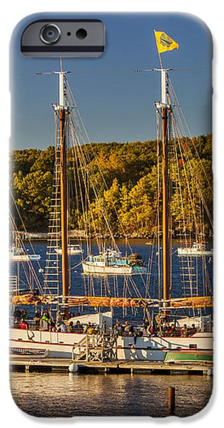 Bar Harbor Schooner iPhone Case by Brian Jannsen