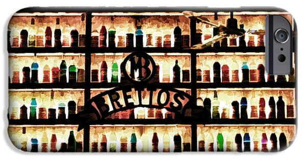 Wine Bottles iPhone Cases - Bar Wall In Athens - Grunge iPhone Case by  rdm-Margaux Dreamations