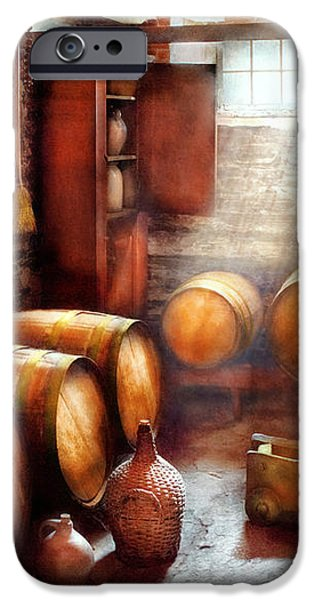 Bar - Wine - The Wine Cellar  iPhone Case by Mike Savad