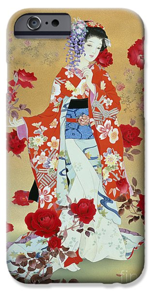 Theatrical iPhone Cases - Bara iPhone Case by Haruyo Morita