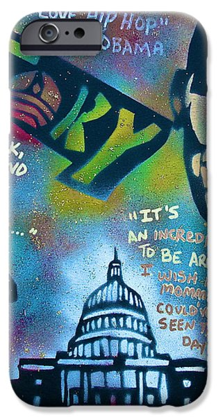 Barack and Common and Kanye iPhone Case by TONY B CONSCIOUS