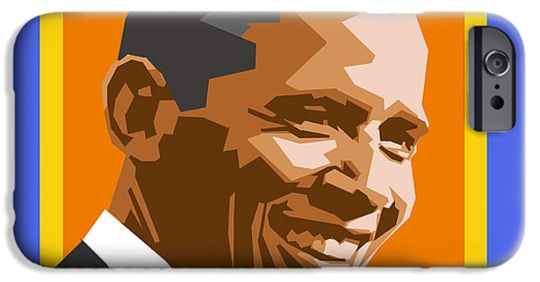Politician iPhone Cases - Barack iPhone Case by Douglas Simonson