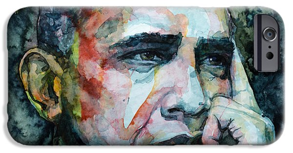 President Obama iPhone Cases - Barack iPhone Case by Laur Iduc