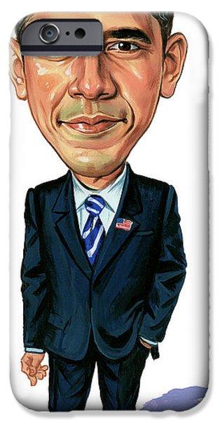 Barack Obama iPhone Case by Art