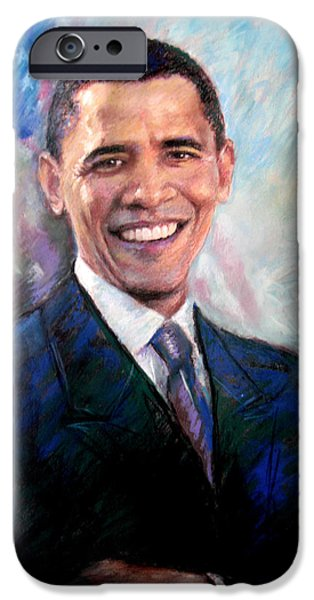 President Obama iPhone Cases - Barack Obama iPhone Case by Viola El