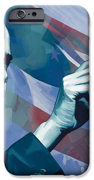 Barack Obama Artwork 2 iPhone Case by Sheraz A