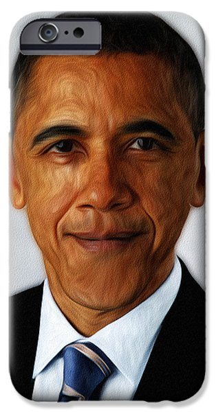 Barack Obama iPhone Case by Digital Reproductions