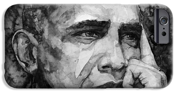 Barack Obama iPhone Cases - Barack Obama iPhone Case by Laur Iduc
