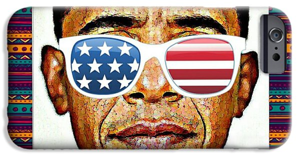 Barack Obama iPhone Cases - Barack Obama iPhone Case by Nuno Marques