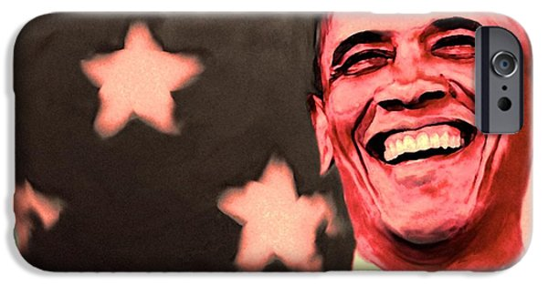 Barack Obama iPhone Cases - Barak Obama iPhone Case by Parvez Sayed