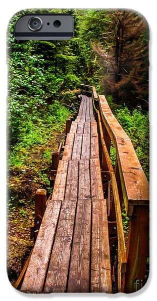 Chatham iPhone Cases - Baranof Boardwalk iPhone Case by Robert Bales
