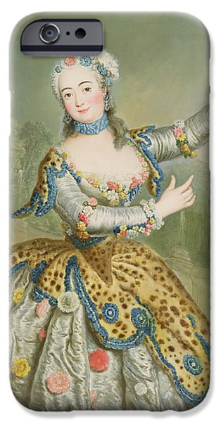 Ballet Dancers Photographs iPhone Cases - Barbara Campanini Oil On Canvas iPhone Case by Antoine Pesne