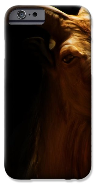Barbary Sheep Portrait iPhone Case by Lourry Legarde