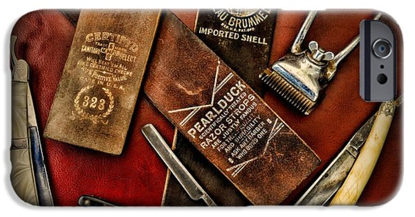 Barber iPhone Cases - Barber - Barber Tools of the Trade iPhone Case by Paul Ward