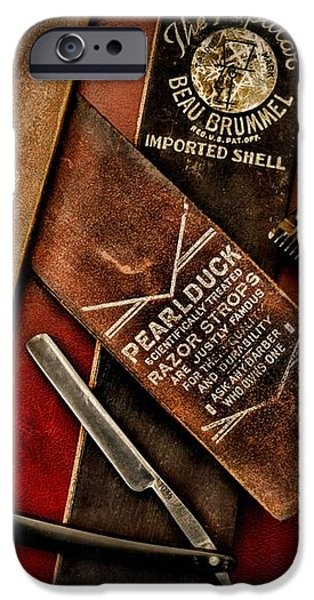 Barber - Barber Tools of the Trade iPhone Case by Paul Ward