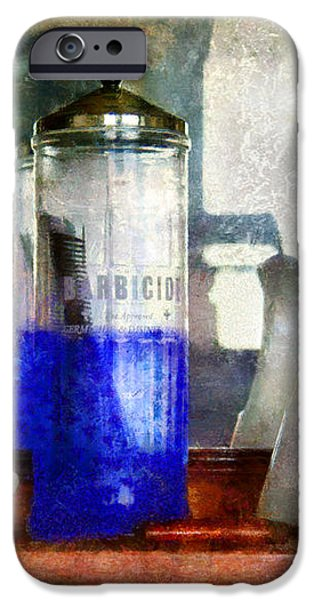 Barber - Blueberry flavored thanks for asking iPhone Case by Mike Savad