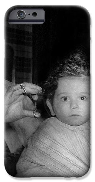 Barber - First Haircut iPhone Case by Mike Savad
