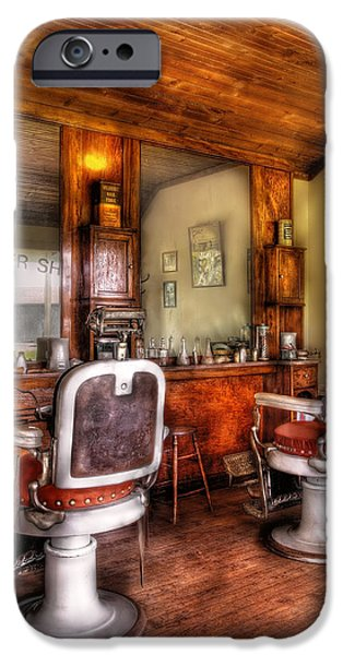 Barber - The Barber Shop II iPhone Case by Mike Savad