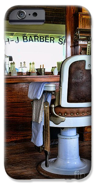 Brush Photographs iPhone Cases - Barber - The Barber Shop iPhone Case by Paul Ward