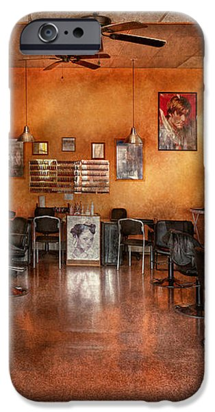 Barber - Union NJ - The modern salon  iPhone Case by Mike Savad