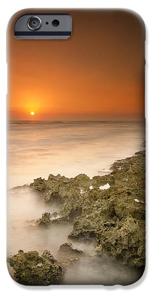 Barber's point light house sunset iPhone Case by Tin Lung Chao