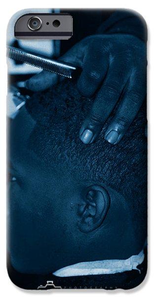 Barbershop  Art iPhone Case by Jerome Lynch