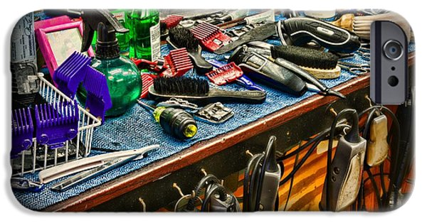 Wahl iPhone Cases - Barbershop - So many tools iPhone Case by Paul Ward