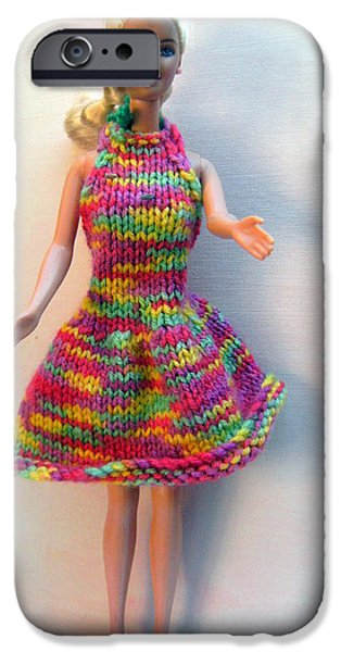 A Summer Evening iPhone Cases - Barbie Doll in a Dress for a Summers Evening iPhone Case by L M Reid