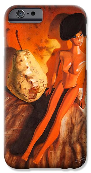 Pears iPhone Cases - Barbies Pear iPhone Case by Karl Melton