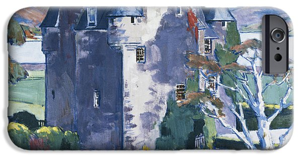 Seventeenth Century iPhone Cases - Barcaldine Castle iPhone Case by Francis Campbell Boileau Cadell