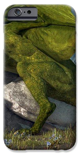 Bard And Dragon iPhone Case by Daniel Eskridge