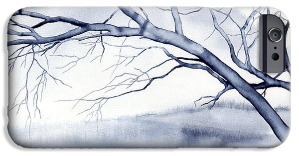 Bare Tree iPhone Cases - Bare Trees iPhone Case by Hailey E Herrera