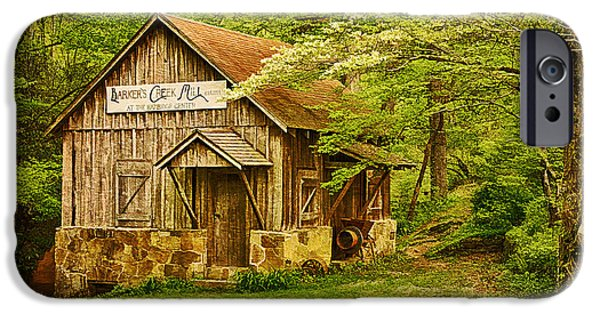 Grist Mill iPhone Cases - Barkers Creek Grist Mill iPhone Case by Priscilla Burgers
