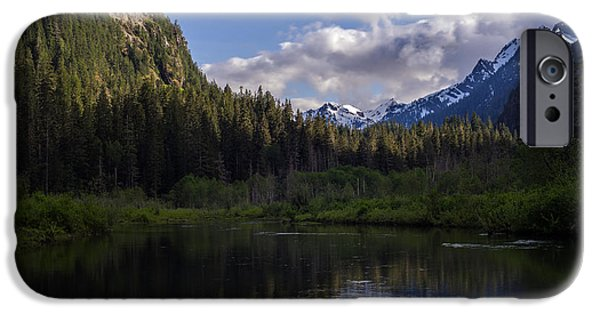 Forest iPhone Cases - Barlow Peaks Evening iPhone Case by Mike Reid