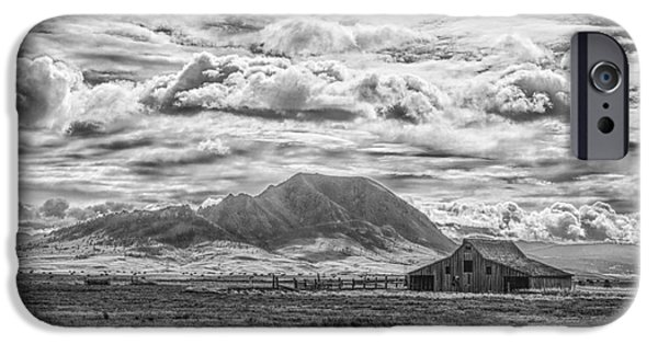 Storm iPhone Cases - Barn and Bear Butte iPhone Case by Steve Triplett