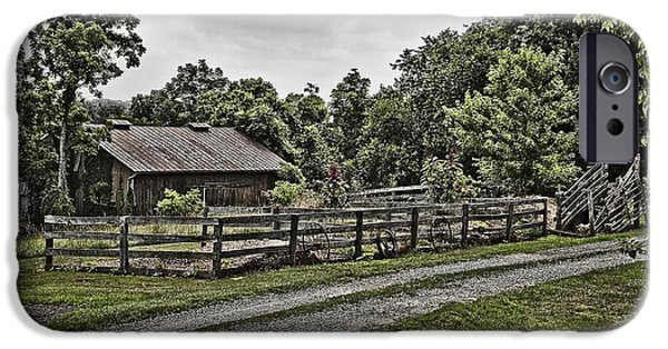Barnstormer Photographs iPhone Cases - Barn and Corral iPhone Case by Guy Shultz
