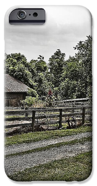 Barn and Corral iPhone Case by Guy Shultz