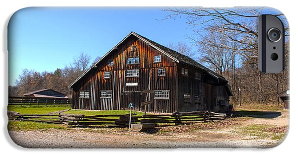 Billie Creek iPhone Cases - Barn at Billie Creek Village iPhone Case by Thomas Sellberg