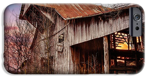 Tn Barn iPhone Cases - Barn at sunset iPhone Case by Brett Engle