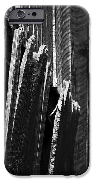 Maryland Barn Photographs iPhone Cases - Barn Boards Black and White iPhone Case by Rebecca Sherman